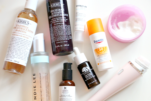 skincare routine producten
