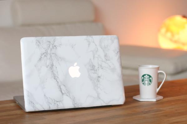 DIY marmeren laptop case - 15