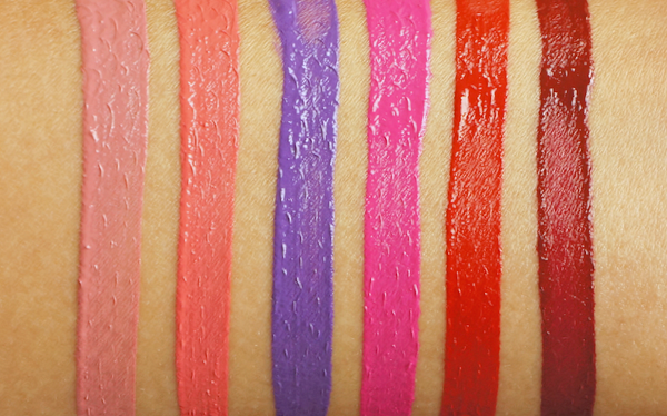 NYX liquid suede lip swatches - 1