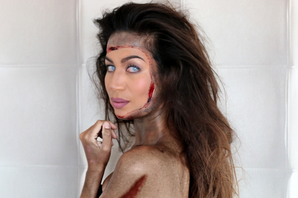 halloween tutorial glam zombie beautylabnl