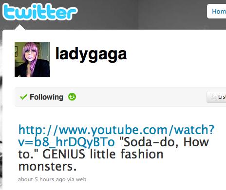 lady gaga tweet beautylab