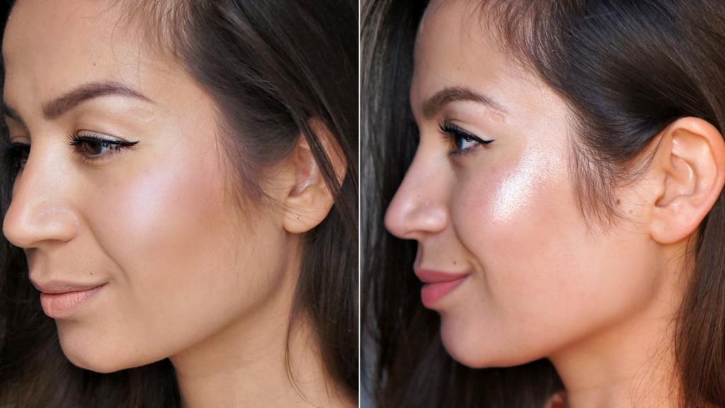 voor en na het scheren van mijn gezicht