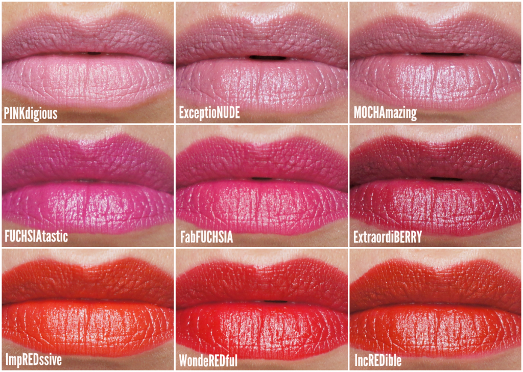 NYC Get it All lipstick swatches