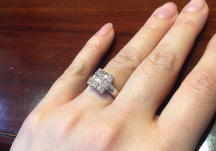 Angel wedding ring
