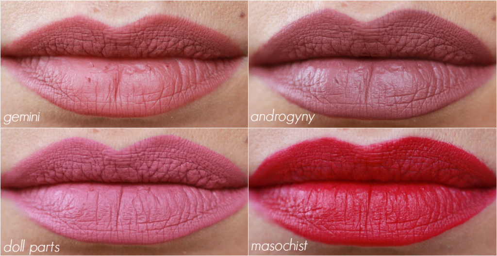 jeffree star lip swatches