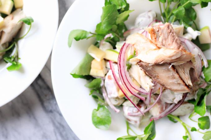 Food Friday: lauwwarme aardappelsalade met makreel