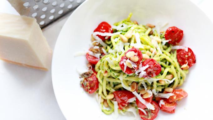 Food Friday | spaghetti met zelfgemaakte spinazie-pesto