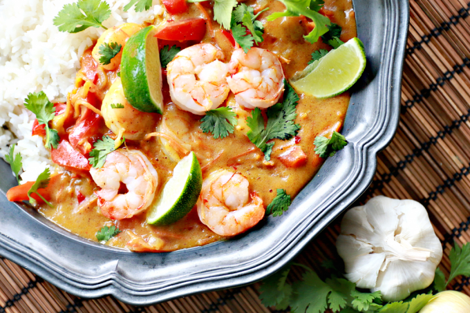 Food Friday | Thaise curry met garnalen en mango