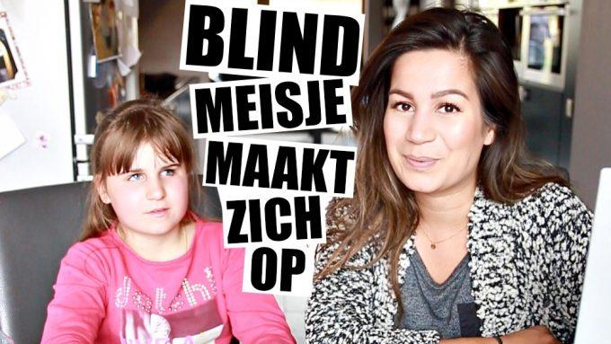 Hoe maakt een blind meisje zich op?